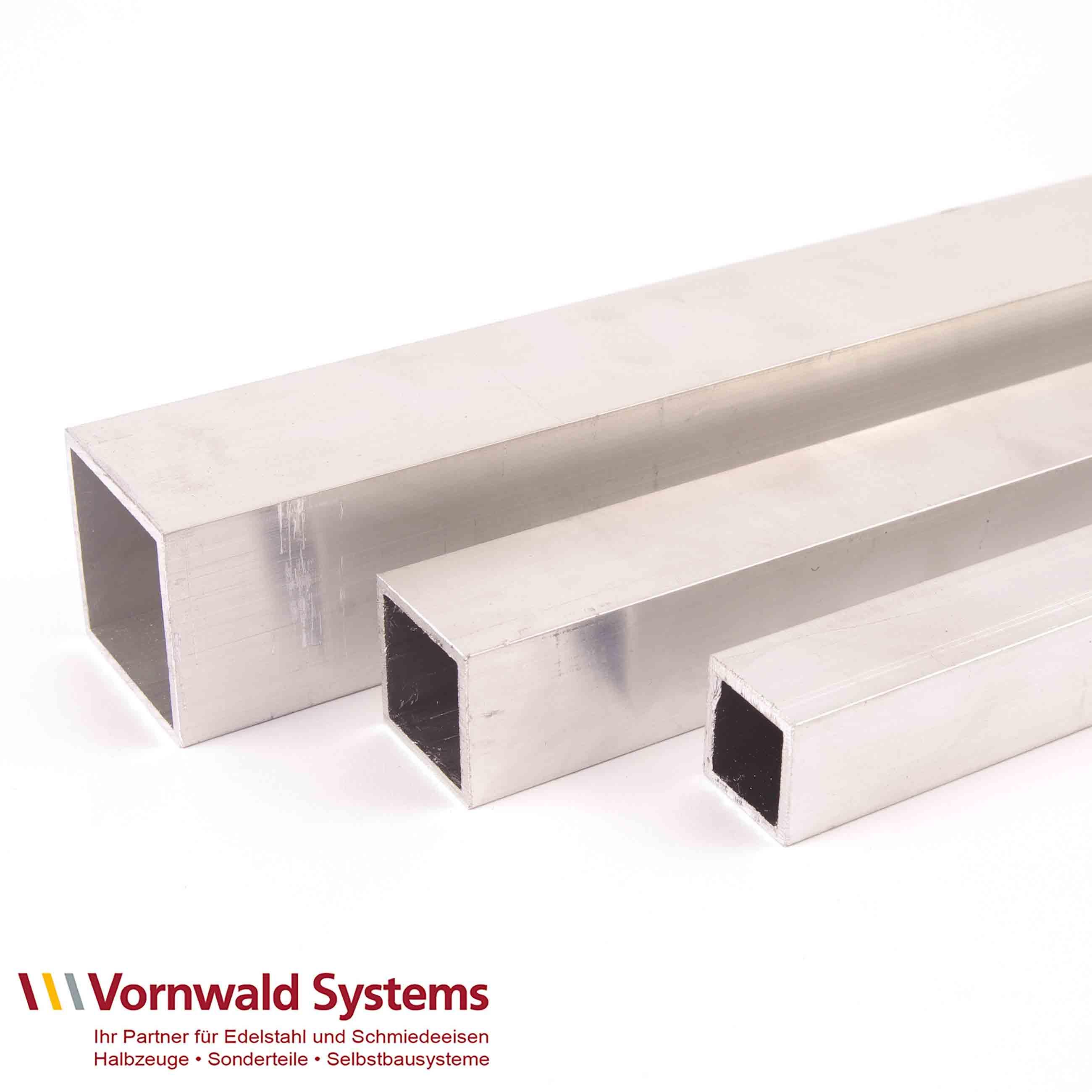 Aluminium Quadratrohre blank