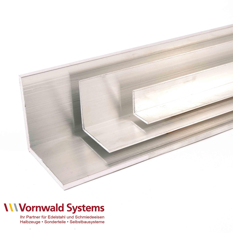Aluminium Winkel gleichschenklig blank