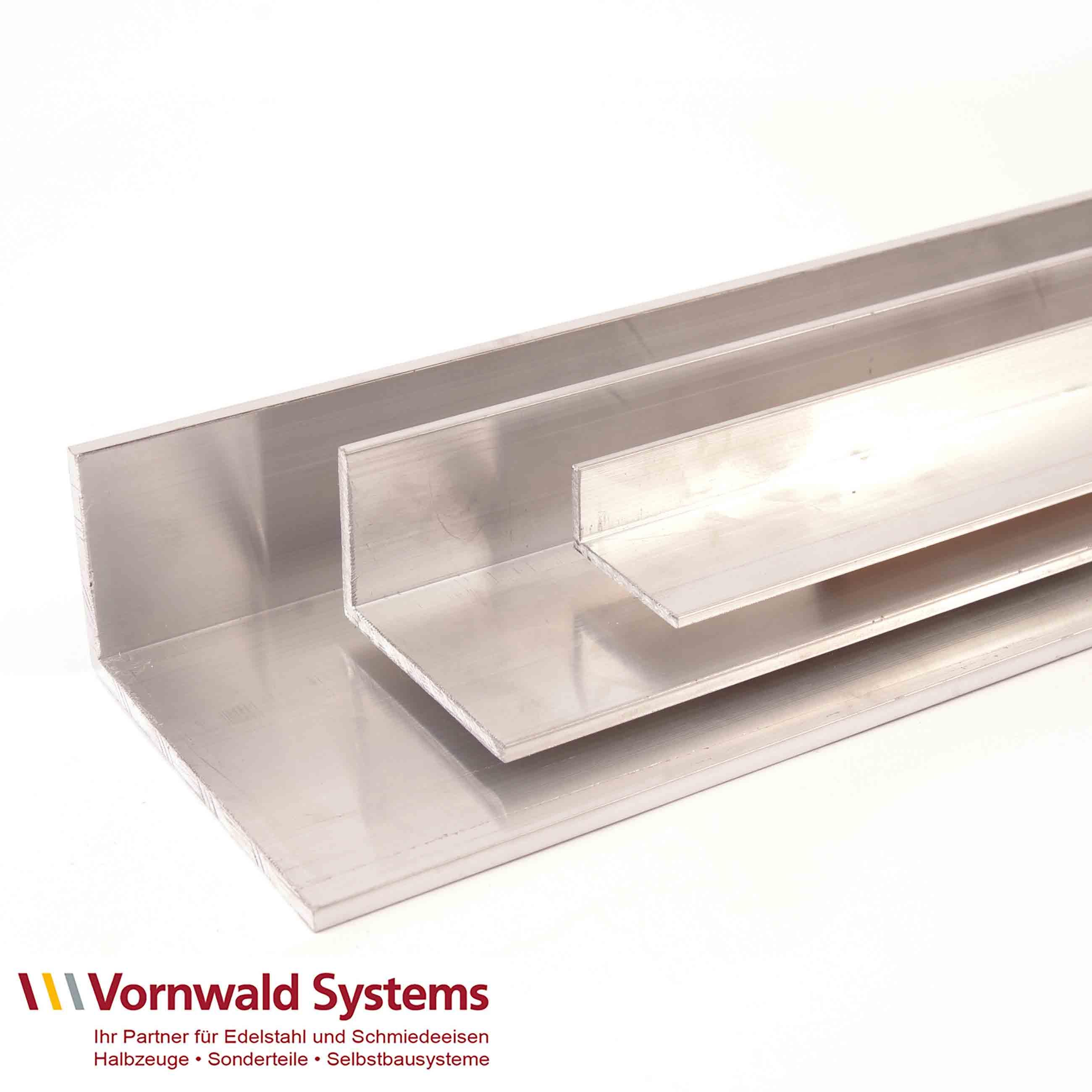 Aluminium  Winkel ungleichschenklig blank